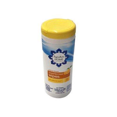 Signature Home Disinfecting Wipes, Lemon