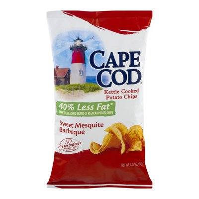 Cape Cod Potato Chips, Kettle Cooked, Sweet Mesquite Barbeque