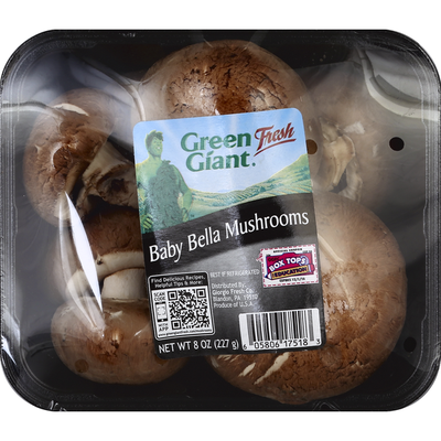 Green Giant Mushrooms, Baby Bella