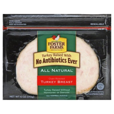 Foster Farms Turkey Breast, Oven Roasted