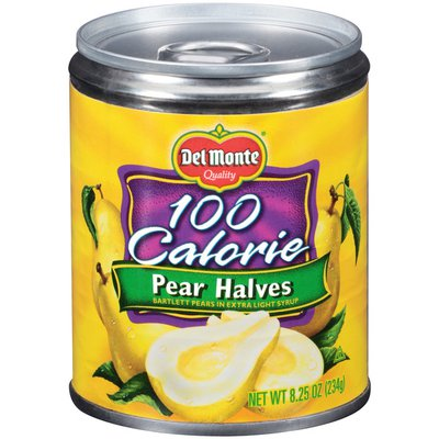 Del Monte 100 Calorie Bartlett Pear Halves in Extra Light Syrup