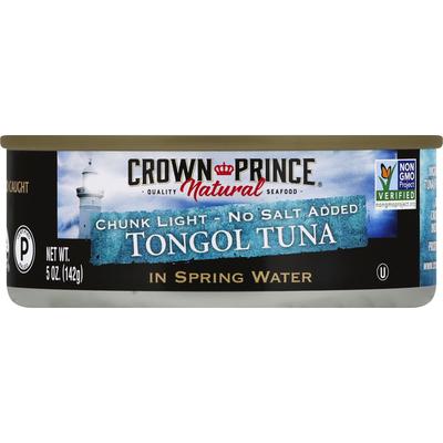 Crown Prince Tongol Tuna, No Salt Added, Chunk Light
