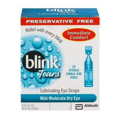 Blink Tears Lubricating Eye Drops Mild-Moderate Dry Eye Single Use - 25 CT