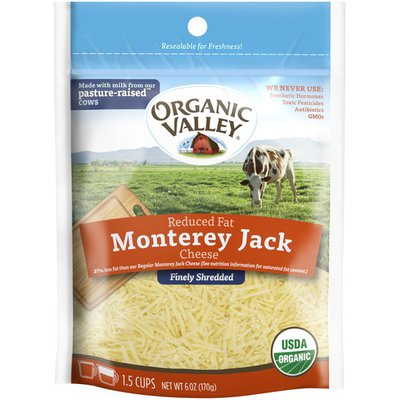Organic Valley Monterey Jack Reduced Fat Fancy Shredded Cheese