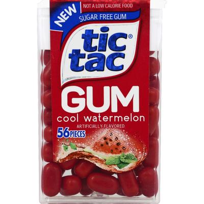 Tic Tac Gum, Sugar Free, Cool Watermelon