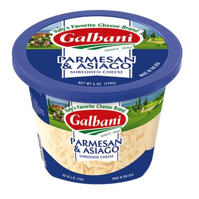 Galbani Galbani Shredded Asiago & Parmesan Cheese