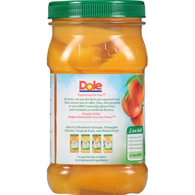 Dole Peaches in 100% Fruit Juice, Yellow Cling, Sliced