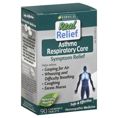 Real Relief Asthma Respiratory Care, Symptom Relief, Chewable Tablets