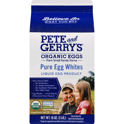 Pete and Gerry's Egg Whites, Pure, Organic