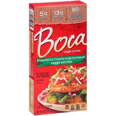 Boca Bruschetta Tomato Basil Parmesan Veggie Patties