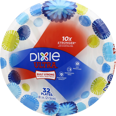 Dixie Plates, 8-1/2 Inch