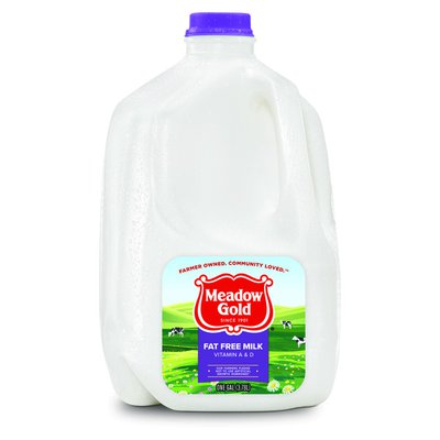 Meadow Gold Fat Free Milk with Vitamin A and Vitamin D Skim Milk