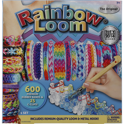 Rainbow Loom Rubber Bands & C-Clips