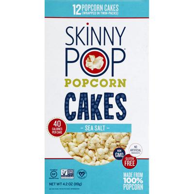 SkinnyPop Popcorn Cakes, Sea Salt