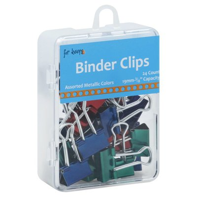 For Keeps Binder Clips, Assorted Metallic Colors