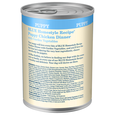 Blue Buffalo Homestyle Recipe Natural Puppy Wet Dog Food, Chicken