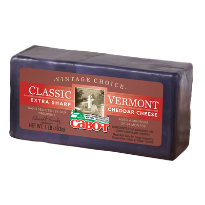 Cabot 1lb Waxed Vintage Choice Cheddar Cheese