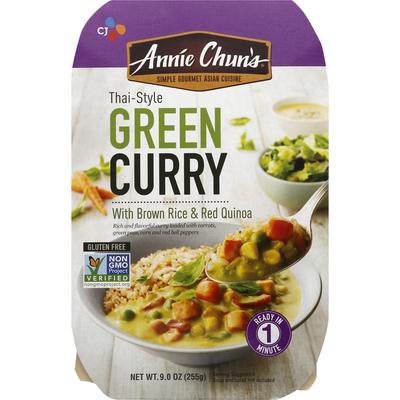 Annie Chuns Green Curry, Thai Style, with Brown Rice & Red Quinoa