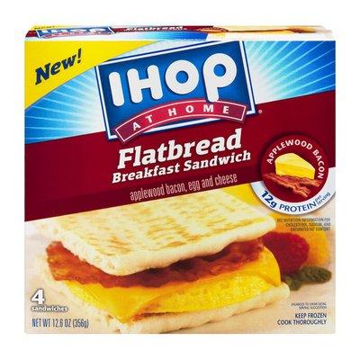 IHOP At Home Flatbread Breakfast Sandwich Applewood Bacon, Egg & Cheese - 4 CT