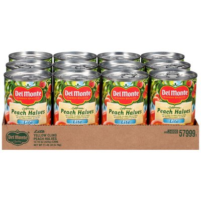 Del Monte California Halves Lite Yellow Cling in Extra Light Syrup Peaches
