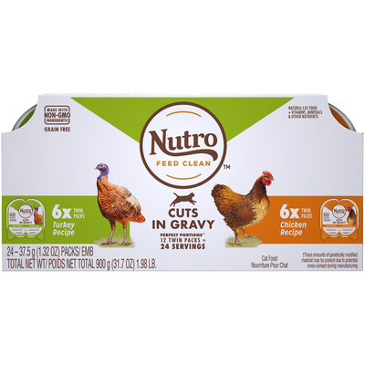NUTRO Perfect Portions Grain Free Cuts in Gravy Multi Pack Adult Cat Food