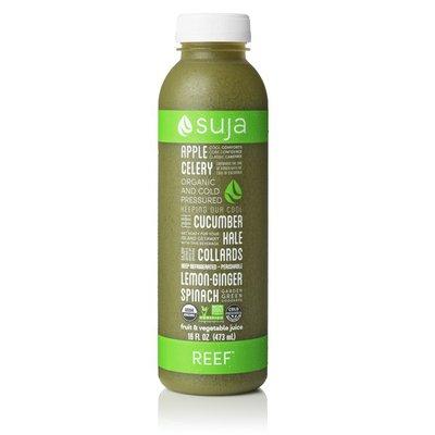 Suja Juice, Fugi Apple, Cucumber, Celery, Kale, Spinach, Collards, Lemon, Ginger, Fiji, Bottle