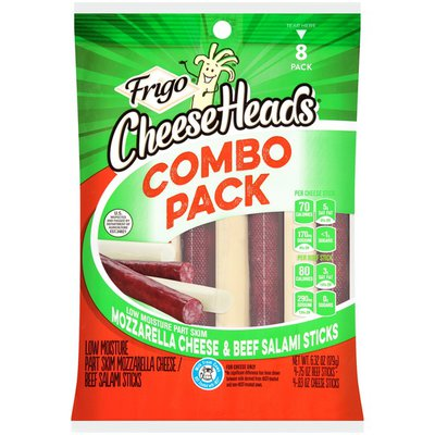 Frigo Low Moisture Part Skim Mozzarella Cheese & Beef Salami Sticks Combo Pack