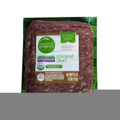 Simple Truth Organic 85% Lean/15% Fat Ground Beef