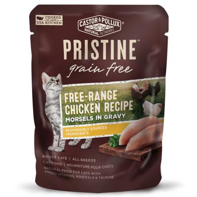 Castor & Pollux Grain Free Free-range Chicken Recipe Morsels In Gravy Adult Cat Food
