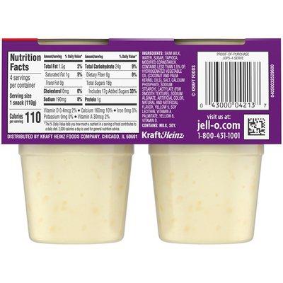 Jell-O Original Tapioca Ready-to-Eat Pudding Cups Snack