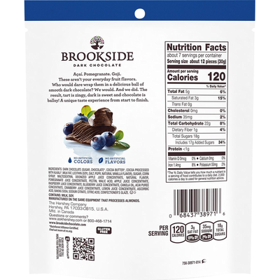Brookside Dark Chocolate, Acai & Blueberry Flavors