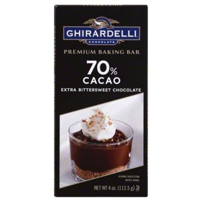 Ghirardelli Baking Bar, Premium, Extra Bittersweet Chocolate, 70% Cacao
