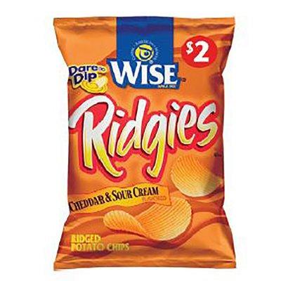 Wise Cheddar & Sour Cream Ridged Potato Chips