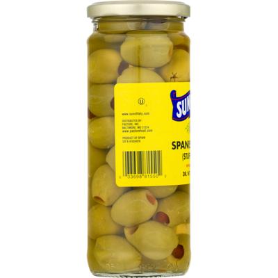 Sun Of Italy Spanish Olives, Stuffed Queen, Jar