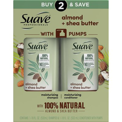 Suave Moisturizing Shampoo And Conditioner Almond And Shea Butter