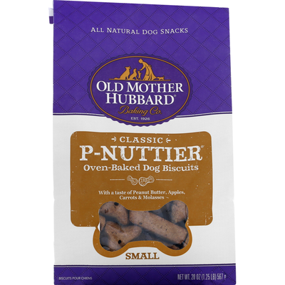 Old Mother Hubbard Dog Biscuits, Oven-Baked, P-Nuttier, Small