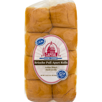 Capital Baking Company Brioche, Pull Apart Rolls