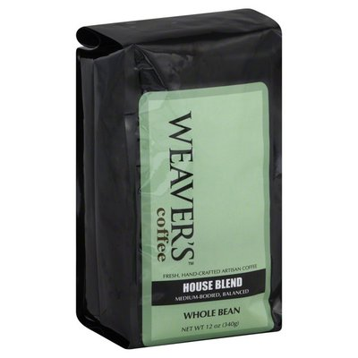 Weavers Coffee, Whole Bean, House Blend