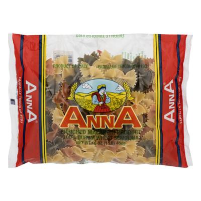 Anna's 100% Durum Wheat Semolina Farfalle Tricolor
