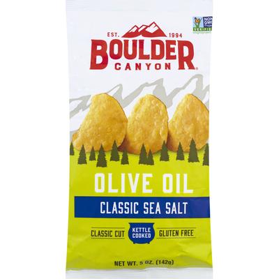 Boulder Canyon Potato Chips, Classic Sea Salt, Olive Oil