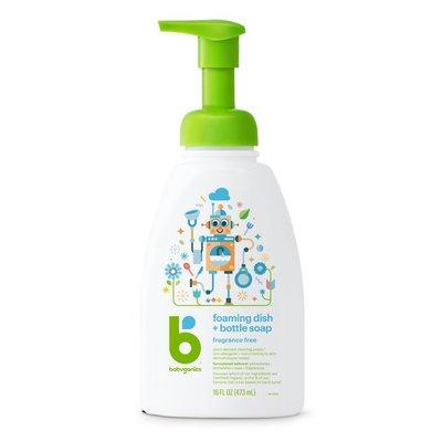Babyganics Foaming Dish Soap, Pump Bottle, Fragrance Free