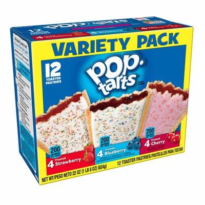 Kellogg's Pop-Tarts Breakfast Toaster Pastries, Variety Flavored Pack, Variety Pack