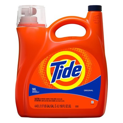Tide Original Scent Liquid Laundry Detergent, 150 oz, 96 loads