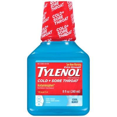 Tylenol® Adult Cool Burst Liquid Pain Reliever/Fever Reducer