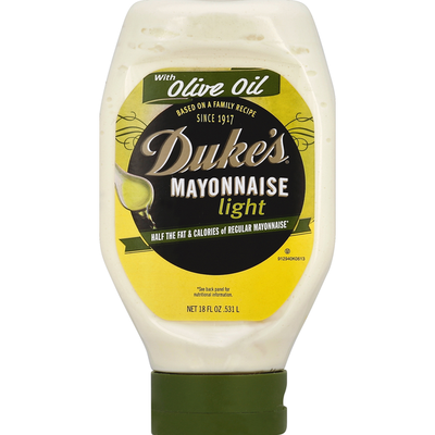 Duke's Mayonnaise, Light, with Olive Oil