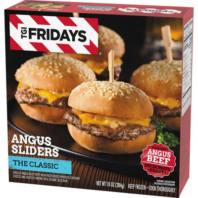 Tgif The Classic Angus Cheeseburger Sliders Frozen Snacks