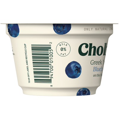 Chobani Blueberry on the Bottom Non-Fat Greek Yogurt