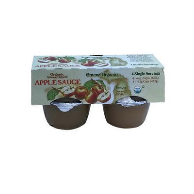 Omena Organics Organic Sweentened Applesauce