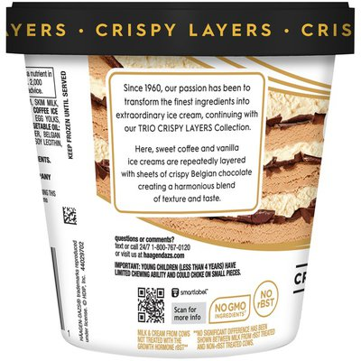 Haagen-Dazs TRIO Crispy Layers Coffee & Vanilla Ice Cream