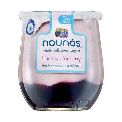 Nounos Black & Blueberry Whole Milk Greek Yogurt, 5%